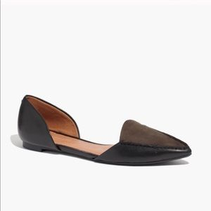 • Madewell • Maud Leather Suede Flats Black 8.5